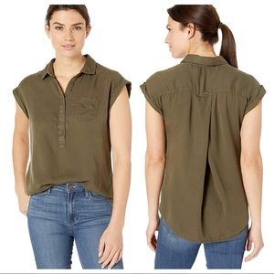 Prana | Women's Azul Top Green Tunic Button Blouse